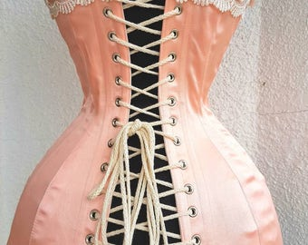 Wedding Lingerie, Blush Pink, Corset, Edwardian Clothing