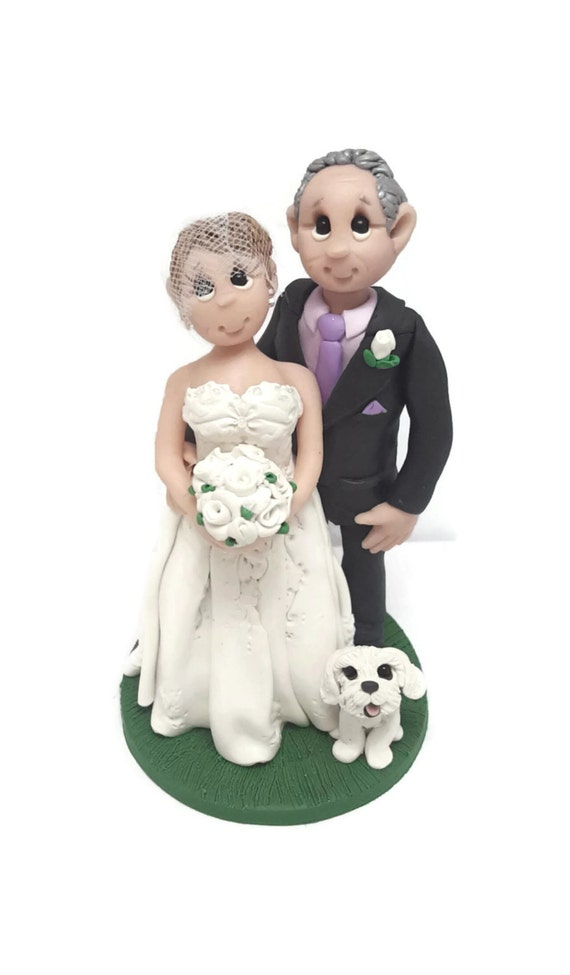 custom wedding cake toppers with dogs custom wedding cake topper wedding cake topper 13262