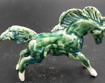 Little Porcelain Horse - small horse sculpture - original art