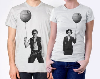 Couples gift set, Business Leia and Han Solo, husband and wife gift, matching shirts for couples,star wars shirts, gift for couples,his hers