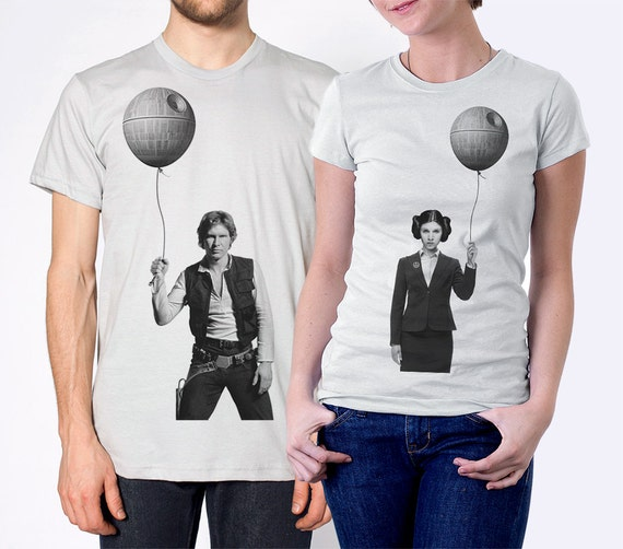 Couples gift set, Business Leia and Han Solo, husband and wife gift, matching shirts for couples,star wars shirts, Valentine's day, his hers