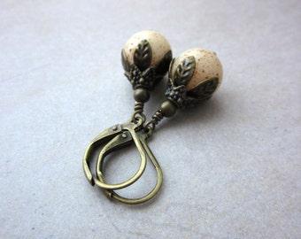Brown Bird Egg Earrings