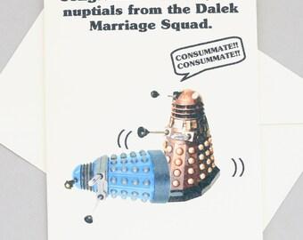 Dalek Doctor Who wedding card - sci-fi - funny - nuptials - humorous funny wedding card funny wedding present doctor who wedding present