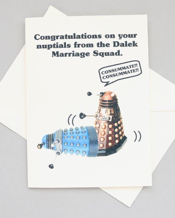 Dalek Doctor Who Wedding Card Sci Fi Funny Nuptials