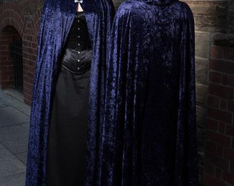 Medium dark Blue Velvet Cloak