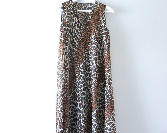 Leopard Print Nightie | 1960s Vanity Fair Leopard Nightie S/M