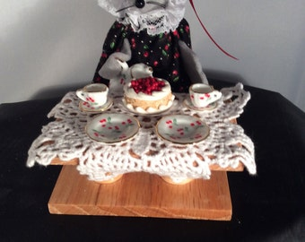 Tea Party Mouse. NEW LOWER PRICE