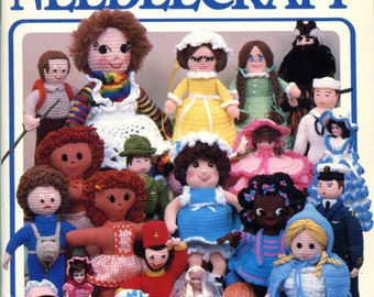 Vintage Dolls Crochet Pattern Book Annie's Showcase of Needlecraft Felt Paper Doll Soldier Dolls Baby Doll Crochet and Sewing Patterns Gifts