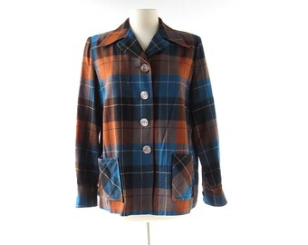 Pendleton 49er Jacket | 1950s Jacket | Wool Plaid Jacket | XL