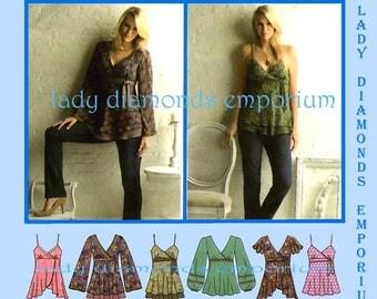 Simplicity 3956 Womens Boho Tops Tunics Shirts sizes 12 14 16 18 20 Six Easy Styles Average to Plus Size Sewing Pattern Uncut FF
