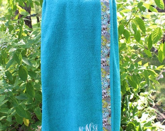 Dark Sea Foam - Spa Wrap Towel with SNAPS - Graduation / BRIDESMAIDS / Girls Trip Gifts / New Mom