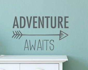Adventure awaits arrow wall decal DB427