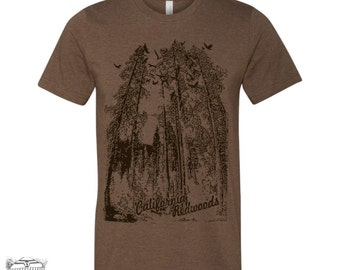 Mens California REDWOODS T-Shirt s m l xl xxl (+ Color Options)