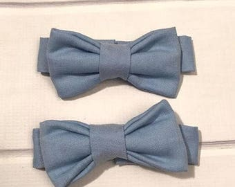 Twins Light Blue Newborn Matching Bow Ties