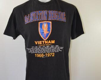 Vintage VIETNAM 1st Aviation Brigade 1966-1972 t-shirt 1989 vintage