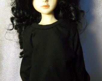 Black sweatshirt for MSD, Soulkid, large bust Minifee, 1/4 bjd DOLL