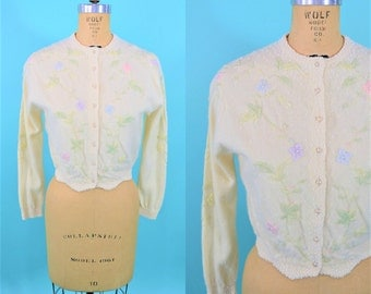 """1950s beaded cardigan 