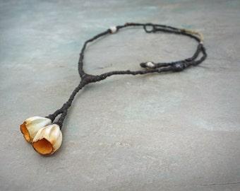 blossom twig sculptural necklace