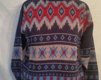 SALE! Vintage ski sweater, 46, Townecraft size large
