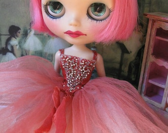 Blythe Hand-Beaded Silk and Tulle Ballet/Evening/Fairy Tutu Gown - Russet