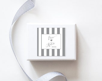 Simply Stripes Wedding Favor Stickers  - Custom Labels // Sweets Table