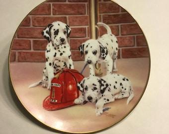 "Dalmatian Plate 8.5"" ""Firehouse Frolic"""