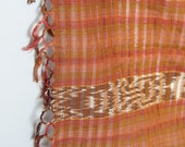 to the canyon -- vintage 70s ikat woven scarf or wall hanging