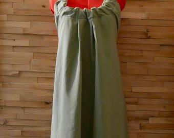 SALE Women's Olive Green Open Back Dress Small Med|Backless Dress|Halter Dress|Low Back Dress|Sundress|Vintage Dress|Boho Dress|Earthy Dress