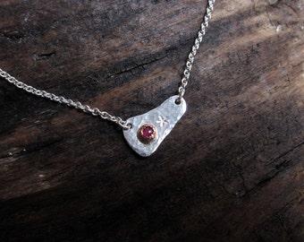 Birthstone Necklace, Gemstone Necklace, Dainty Necklace, Sterling Silver Necklace, Layered Necklace