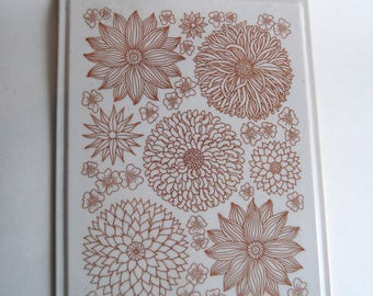 Vintage Cutting Board, Floral