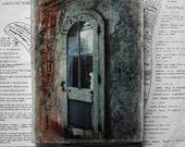 Door, Arched Door, Glass, Abandoned, Wall,  Original, 4 3/4 x 7, Mixed Media, Miniature, Affordable, Art