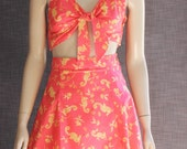 Reserved for Richelle.  1940's 2 Piece PLAYSUIT / SWIMSUIT.    Seahorses