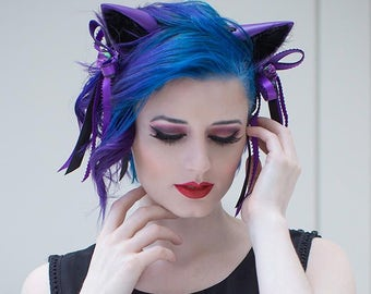 Cute Fox/Wolf Ears - Embellished - 240 Color Combos - for Cosplay, Parties, Clubbing, Cons, Fun, Studio Photoshoot Props, Halloween Costume