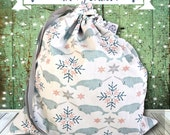 Stitching Up Narwhals - NEW! Solo Sheepie, A Project Bag for Knitting or Embroidery - 2016 Holiday Collection