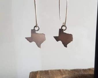 State of Texas Silhouette Dangle Earrings