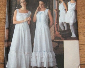 2002 simplicity pattern 7157 misses historical turn of the century undergarments slip camisole with bloomers sz 14-16-18-20  uncut