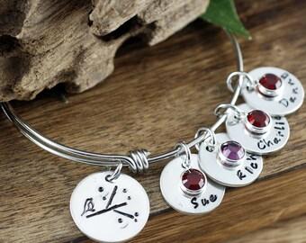 Mothers Bracelet, Mama Bird Bracelet, Personalized Mom Bracelet, Kids Name bracelet, GIft for Mom, Mothers Bracelet, Mothers Day Gift