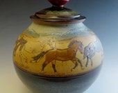 Cookie Jar 8 Running Horses in the Mountains