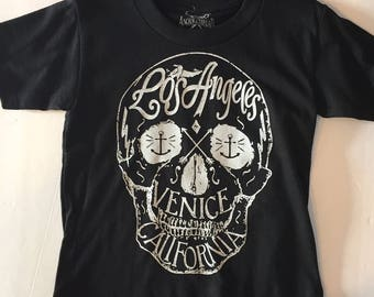 Toddlers Kids Unisex Los Angeles Venice California Skull T-shirt