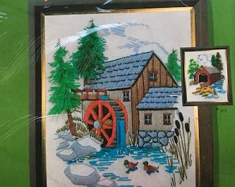 "The KIt Bit Kit No. 512 ""Pine Valley Mill"" Vintage  1970's Needle Craft"