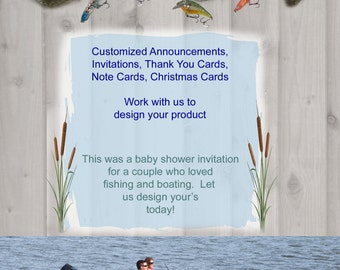 Custom Personalized Printable Announcements, Invitations, Note Cards, Thank You Notes