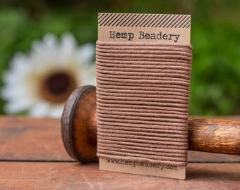 Brown Organic Cotton Cord,   2mm,  5 yards,  Organic Jewelry Cord, Brown Cord