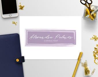 Premade Logo Kit - Business Logo - Logo Design - Photography Logo - Logos - Blog Logo - Blog Logo Design - Purple Logo - 8-17