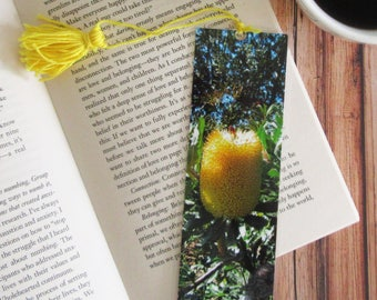Yellow Banksia Bookmark with Tassell. -Australian Native Flowers- Photo Bookmark - Page Marker -