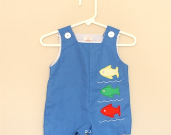 Fish Overalls- 3-6 months
