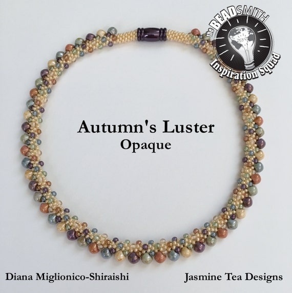 Autumn's Luster, Opaque, Beaded Kumihimo Necklace, A Fully Beaded Kumihimo Necklace, Measures 18, Inches Magnetic Clasp