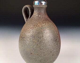 Jug, Sake, Bottle, Bud Vase, Whiskey, Bourbon, Woodfired Porcelain Blend Ceramic Pottery by Justin Lambert