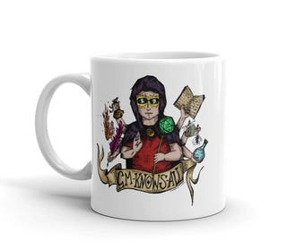 Original Art Mug - Alice Umbrella | Alice in Wonderland | Fantasy | Victorian | Duck Umbrella | Tea | Coffee