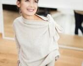 SALE - Beige sweater | Minimal sweater |  Loose fit sweater | LeMuse beige sweater