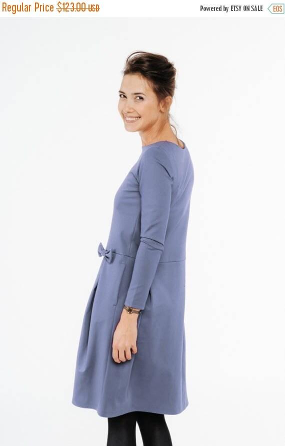 SALE - Retro cocktail dress | Light blue cocktail dress | Day to night dress | LeMuse retro cocktail dress